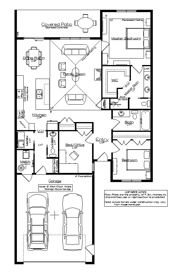 One level townhome floor plans for 1 story townhouse plans