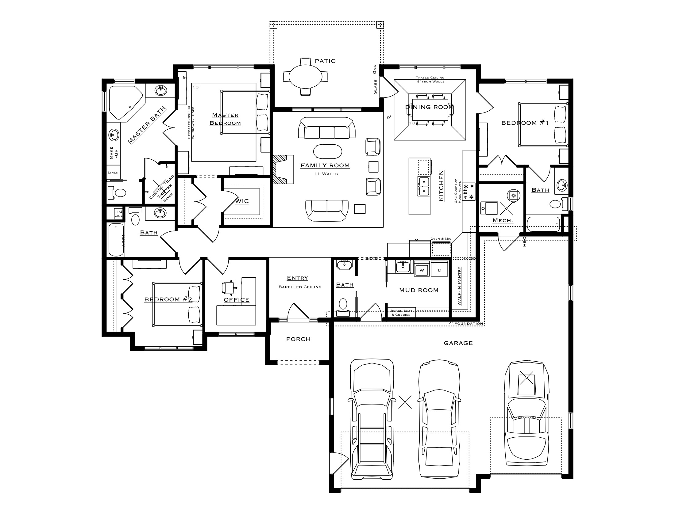 3 Bedroom Captiva Plan