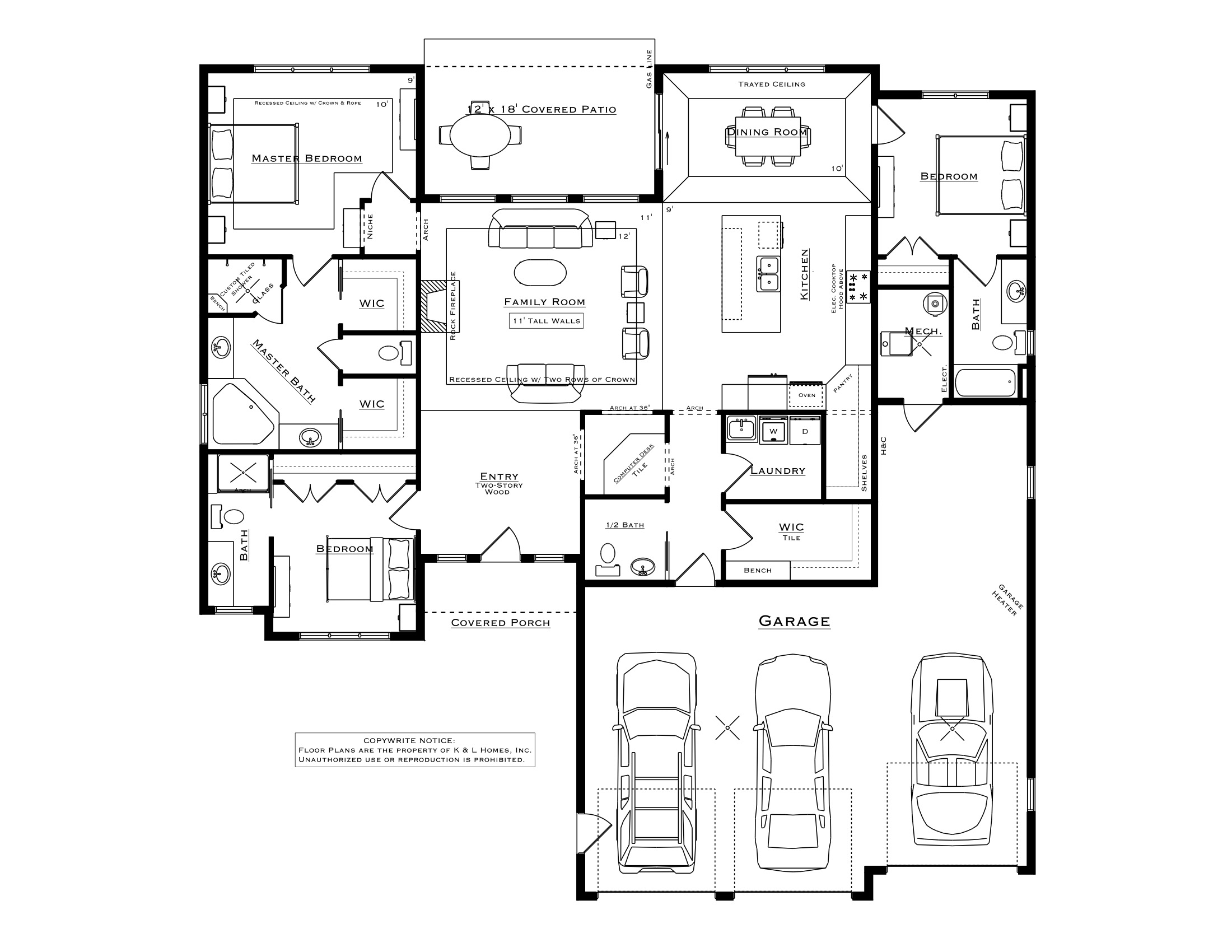 Exceptionnel 3 Bedroom Marco Plan