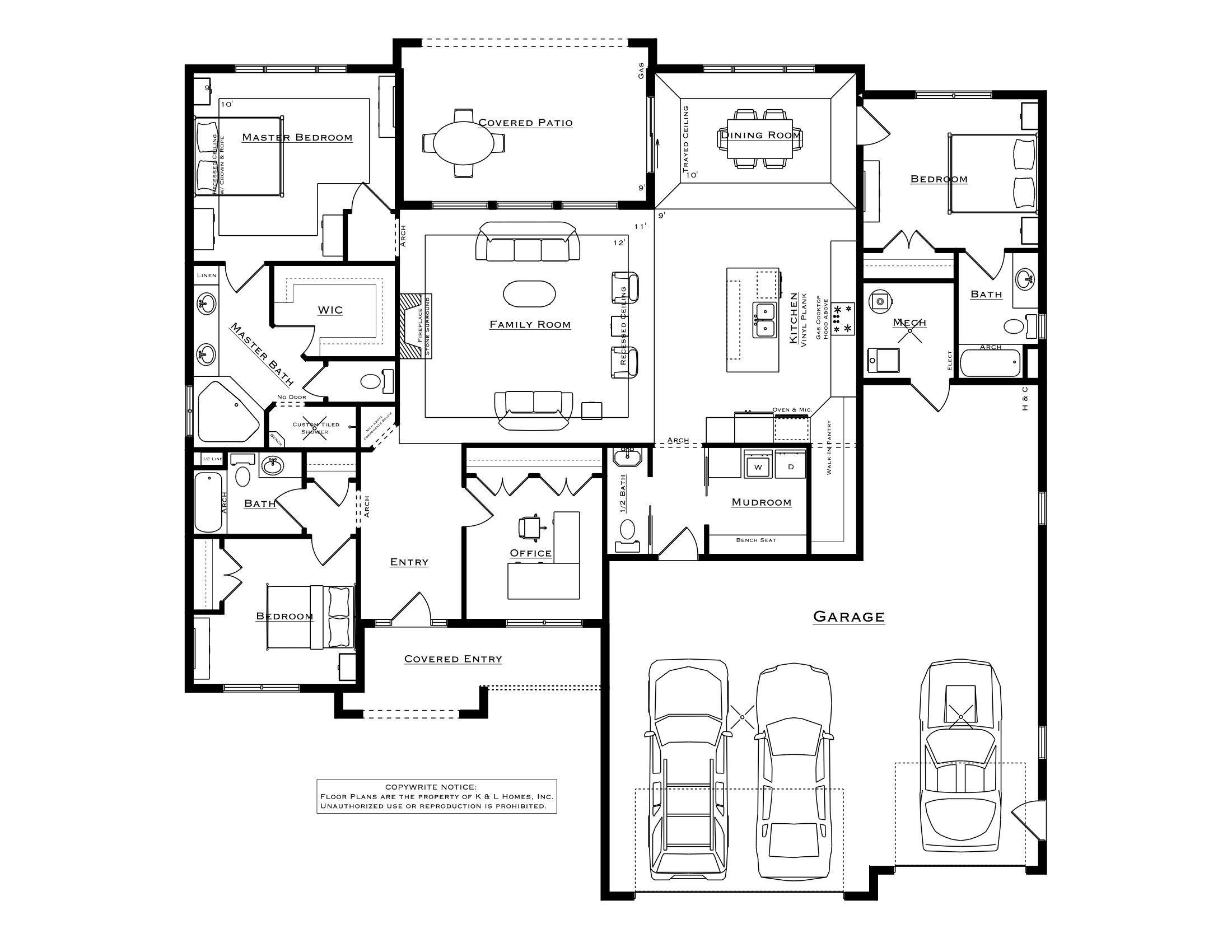 3 Bedroom Sanibel Plan
