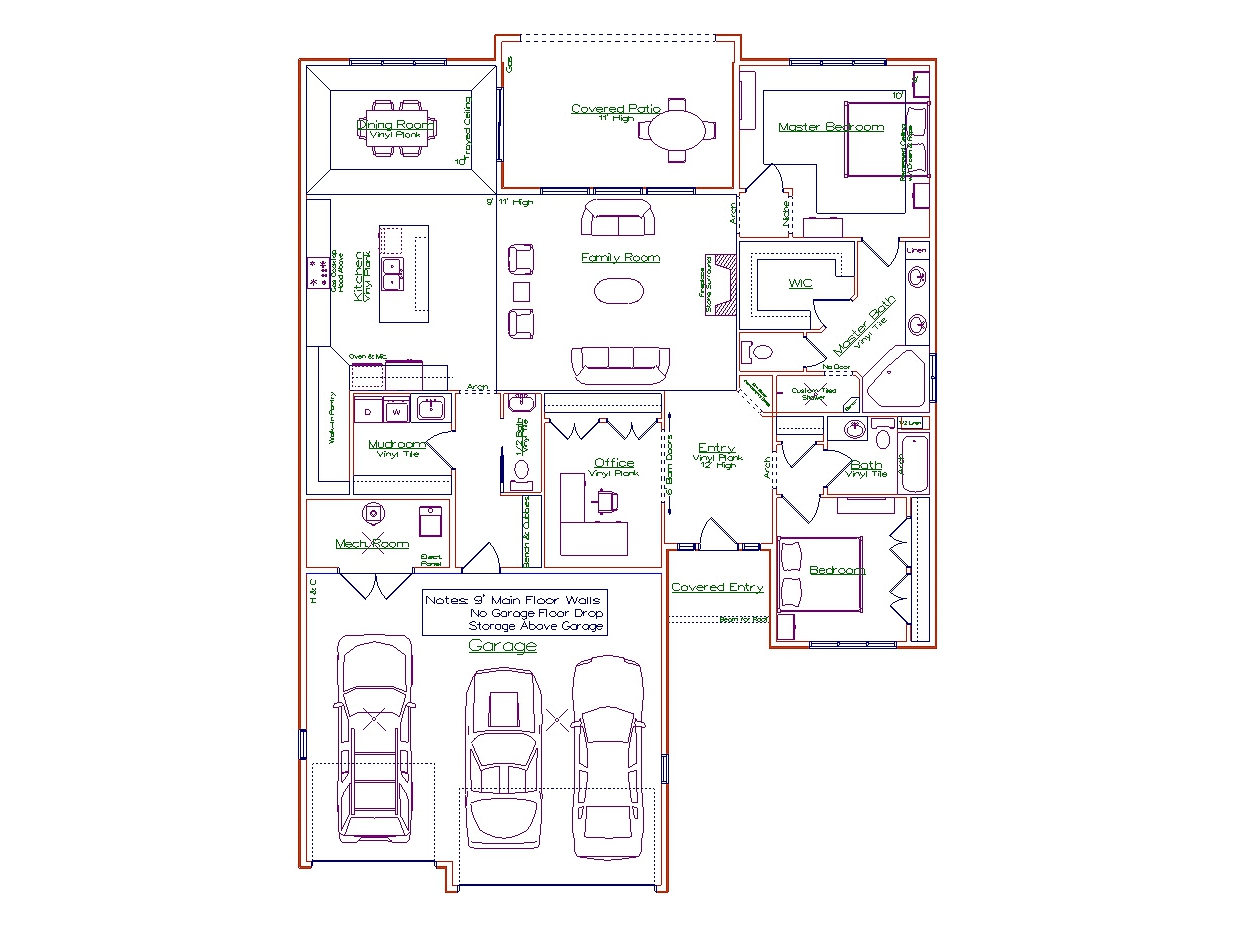 2 Bedroom Sanibel Plan